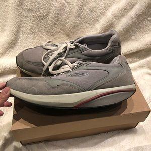 MBT Sneaker Gray/White Men's 12 Gently Used